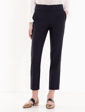 Slim crêpe trousers