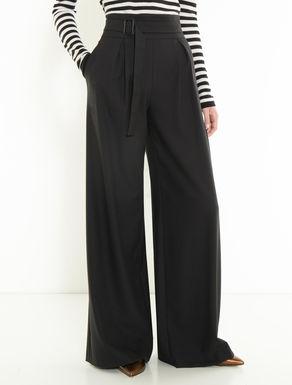 Pantaloni wide in tessuto crêpe