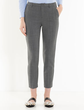 Slim trousers with chevron design