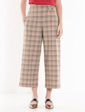 Pantaloni wide a disegno check