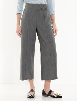 Pantalon ample à chevrons