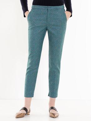 Slim jacquard trousers