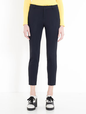 Pantaloni slim in cady