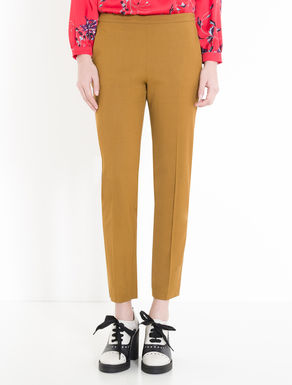 Slim gabardine trousers
