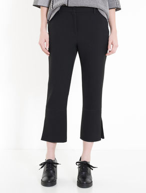 Double kick-flare trousers