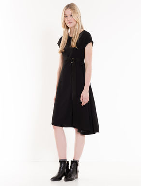 Asymmetrical dress in 3D fabric