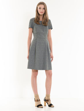 Jacquard corolla dress