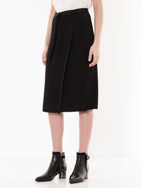 Rib-knit skirt