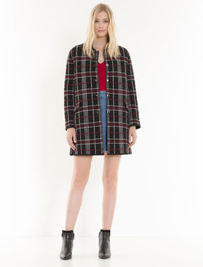 Checked Knitpad coat
