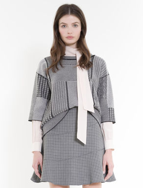 Pullover in Patchwork-Jacquard