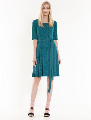 Kleid in A-Linie aus Chiné-Jersey