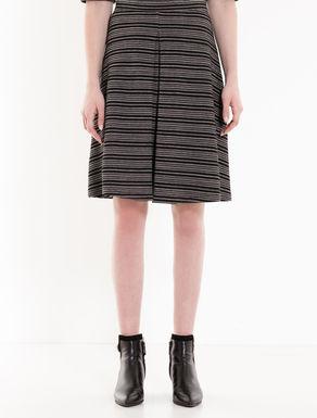 Jacquard jersey skirt