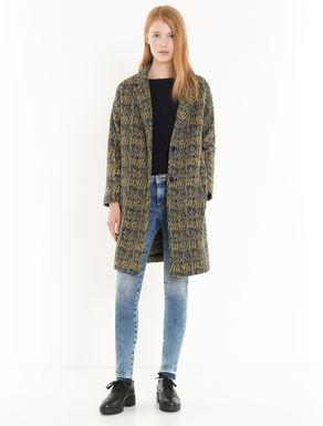 Jacquard jersey coat