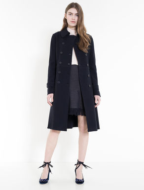Wool jersey trench