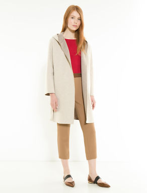 Double cashmere blend coat