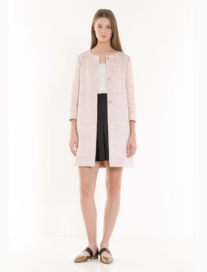 Woven lamé overcoat