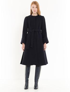 Manteau à texture sergée