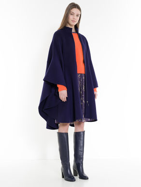 Double wool blend cape