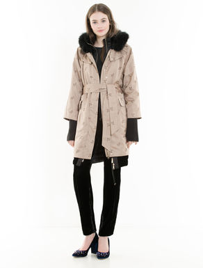 4-In-1 embroidered padded parka