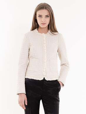 Boxy jacket with stitching