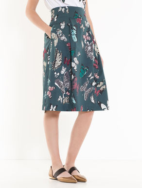 Cotton satin corolla skirt