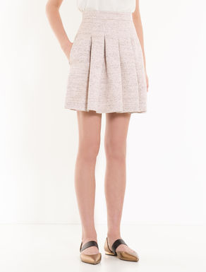 Woven lamé skirt