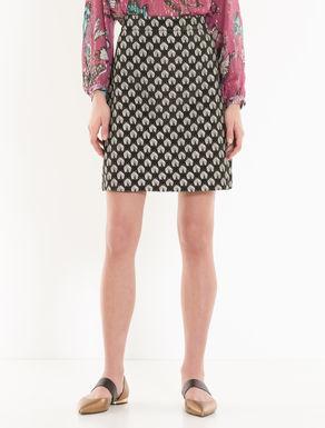 Lamé jacquard A-line skirt