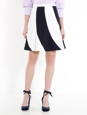 Sablé crêpe colour-block skirt