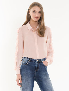 Georgette shirt with ruching