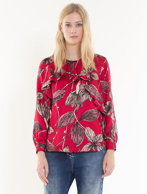 Twill blouse with flounces