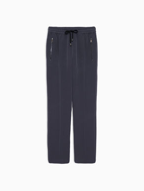 Jogging trousers in crêpe fabric