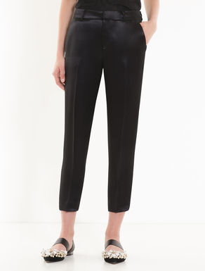 Slim satin trousers