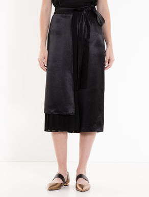 Satin and georgette culottes