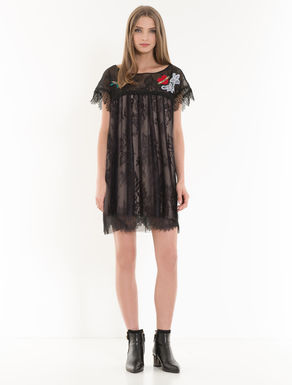 Chantilly lace tunic dress