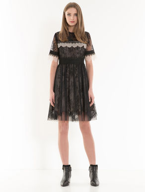 Chantilly lace corolla dress