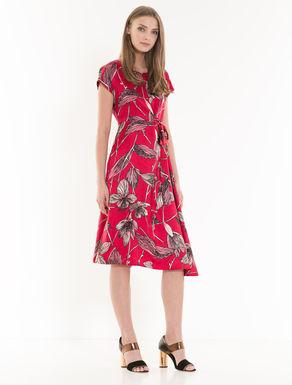 Asymmetrical twill dress