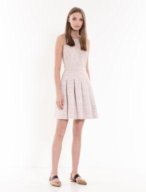 Woven lamé corolla dress