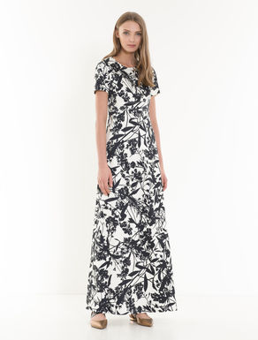 Printed cotton satin dress