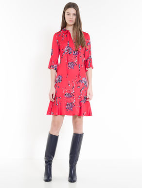 Fit & flare dress in floral satin