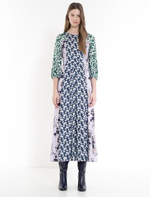 Long patchwork floral dress