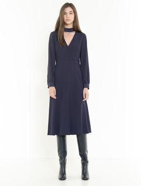 Kleid aus Crêpe-Satin mit Schleife