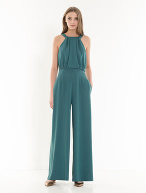 Fluid envers satin jumpsuit
