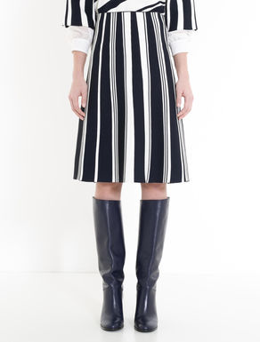 Striped knitted skirt