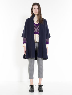 Pure wool knit cape