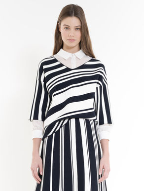 Graphical stripe sweater