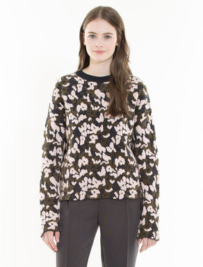 Camouflage jacquard jumper
