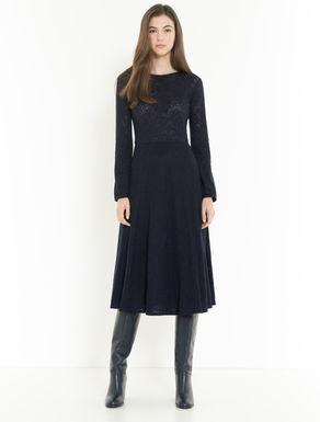 Kleid aus floraler Wollspitze
