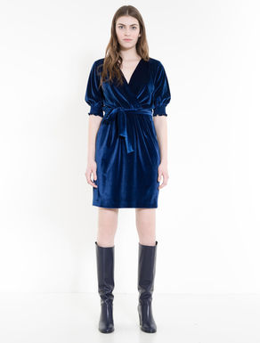 Abito in jersey velour