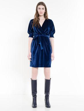 Velour jersey dress