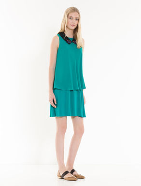 Silk and jersey dress